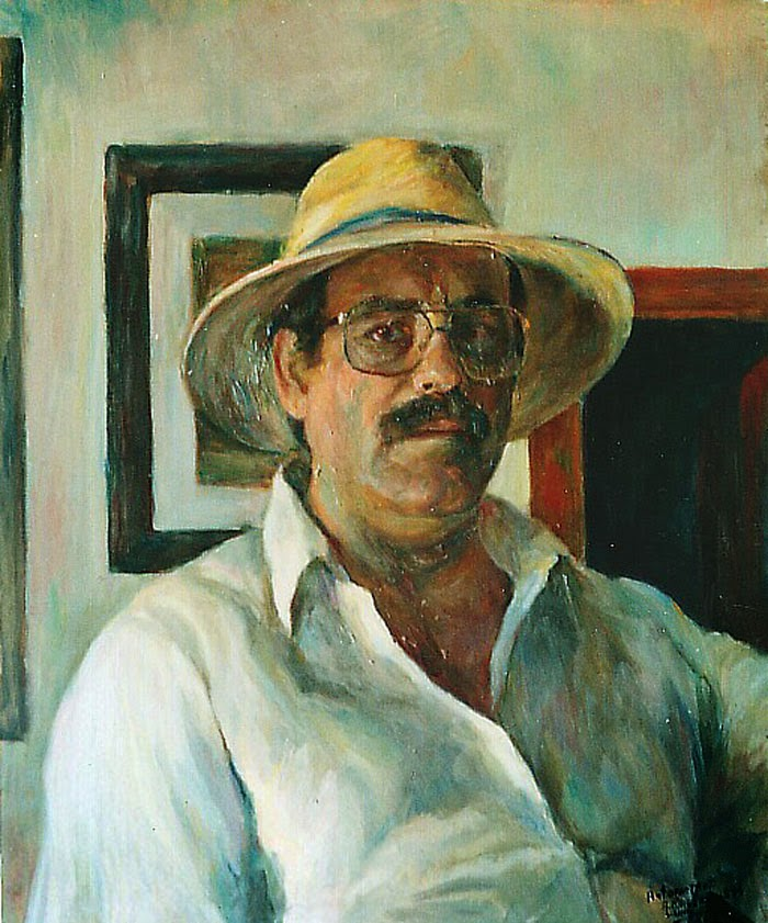 Antonio Macías Luna , Pintor español, Retratos de Antonio Macías Luna , Pintores Realistas Españoles, Galería de retratos figurativos, Autorretrato de Antonio Macías Luna