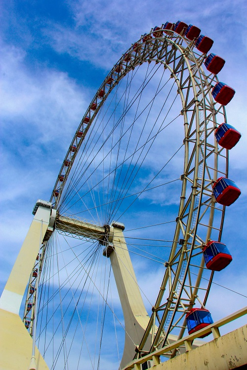 The Tianjin Eye, China -  The only Ferris wheel in the world that is built over a bridge