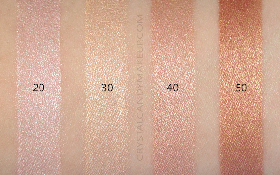 Make Up For Ever Ultra HD Soft Light Liquid Highlighters Review Swatches 20 30 40 50