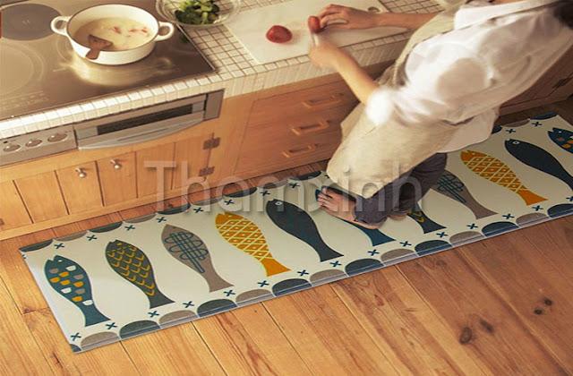 Thảm trải phòng bếp tiện dụng