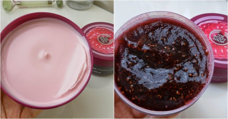 A look at two products from the new Raspberry range at The Body Shop.