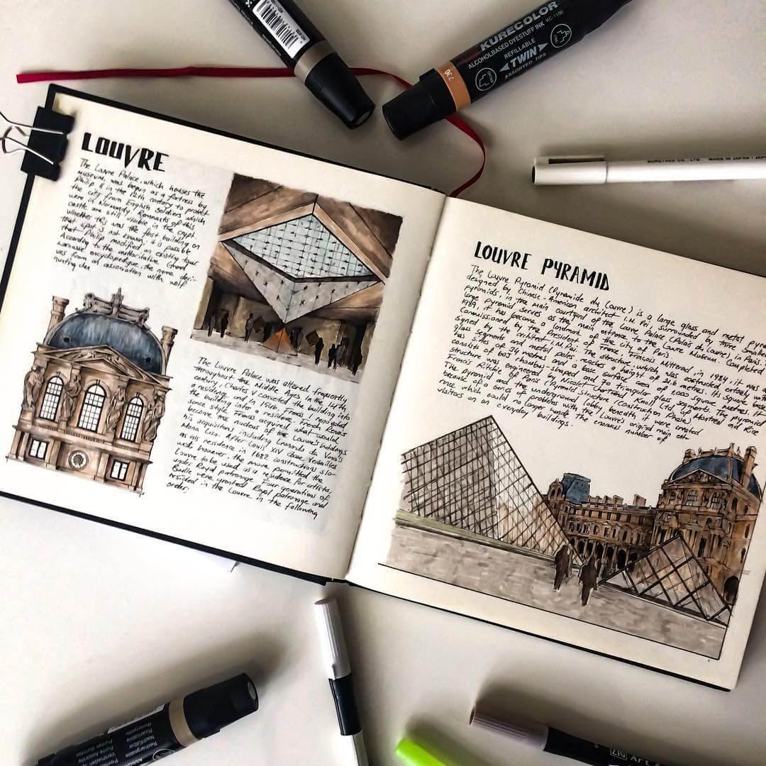 02-Louvre-Museum-Oğuzhan-Çengel-European-Heritage-Architectural-Drawings-www-designstack-co