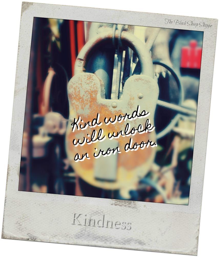 Kind words will unlock an iron door.