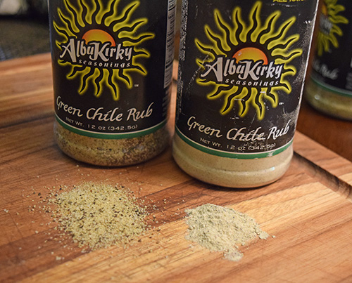 Alubkirky's Green Chile Seasoning Rub