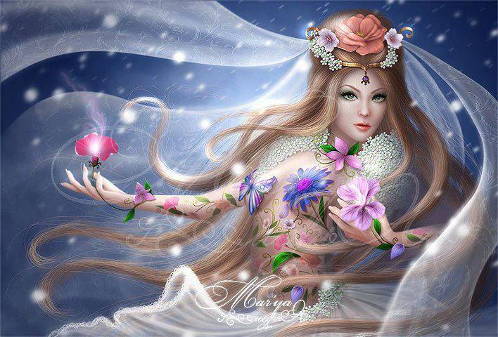Anime Wallpaper Goddess Girl With Black And White Hair Im 225 Genes Bonitas Fantas 237 A Vol 2 20 Fotos Imagenes Y