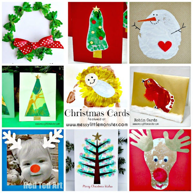 kid made christmas card ideas - Christmas advent countdown.  Fun Christmas craft and activity ideas for every day of advent. Perfect ideas for toddlers, preschoolers and older kids.