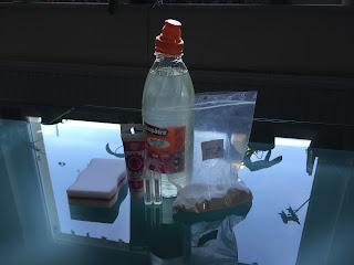 Ingrédients pour le jelly cube slime