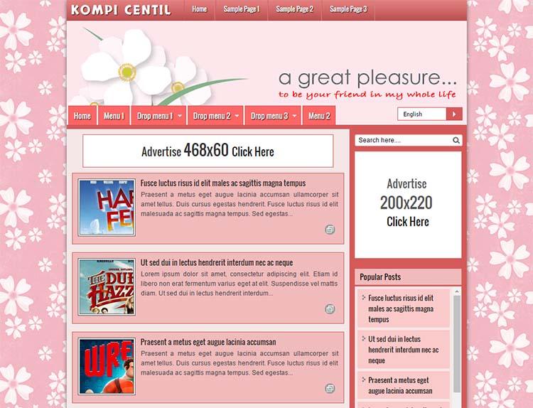 Free Blogger Template - Kompi Centil