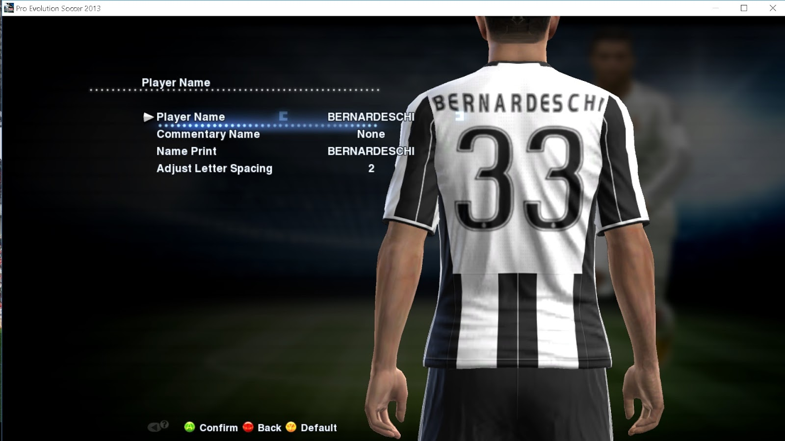 PES 2013 OPTION FILE UPDATE TRANSFER 29 JULY 2017 BY BORIS