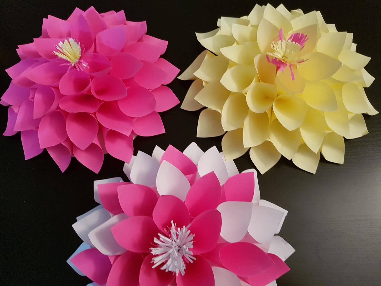 Easy Diy Craft Dahlia Paper Flower Aaichi Savali
