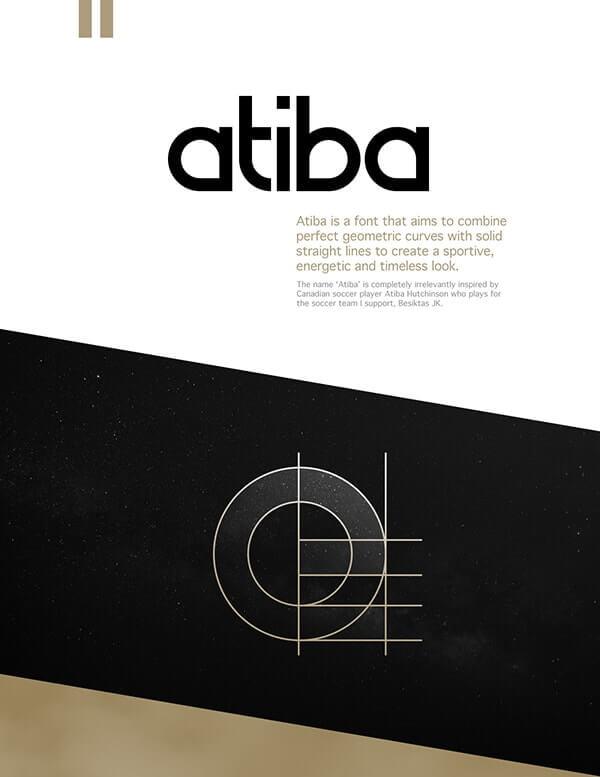 Download Gratis Sans Serif Komersial Font - Atiba Typeface