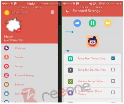 BBM MOD Tema Red Grey versi 2.13.0.26 APK