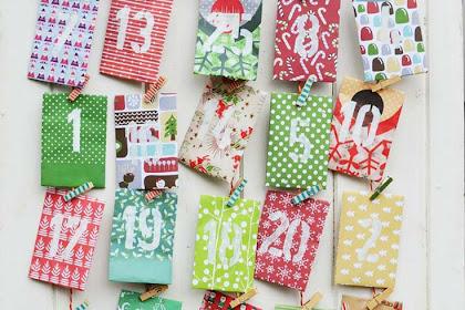 DIY Paper Envelope Advent Calendar