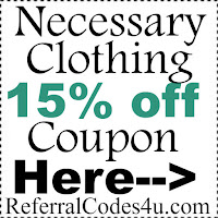 Necessary Clothing Discount Code 2017, Necessary Clothing Coupon January, February, March, April