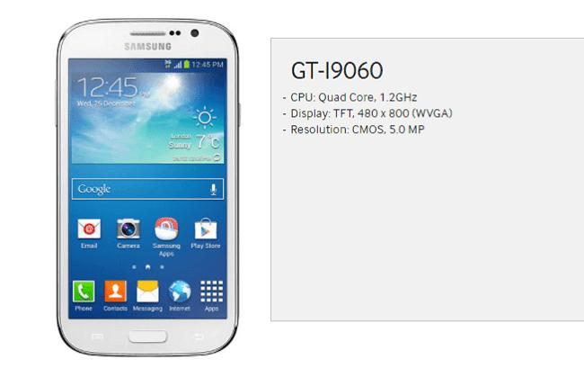 Hard Reset Samsung Galaxy Grand Neo (GT-I9060, GT-i9060L)