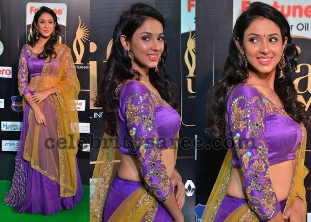 Priya Sri in Purple Lehenga
