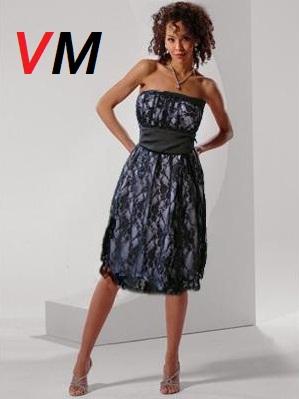 4fc57bc1b4 Excellent-White-Lace-Bridesmaid-Dress-For-Summer-Wedding-With-Black-Sash-BSD0017  vestidos de fiesta jardin
