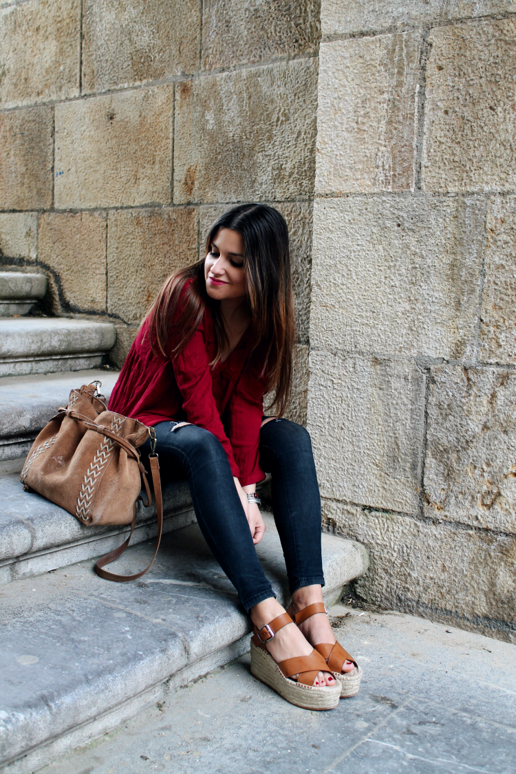 camiseta roja primark blogger moda leon