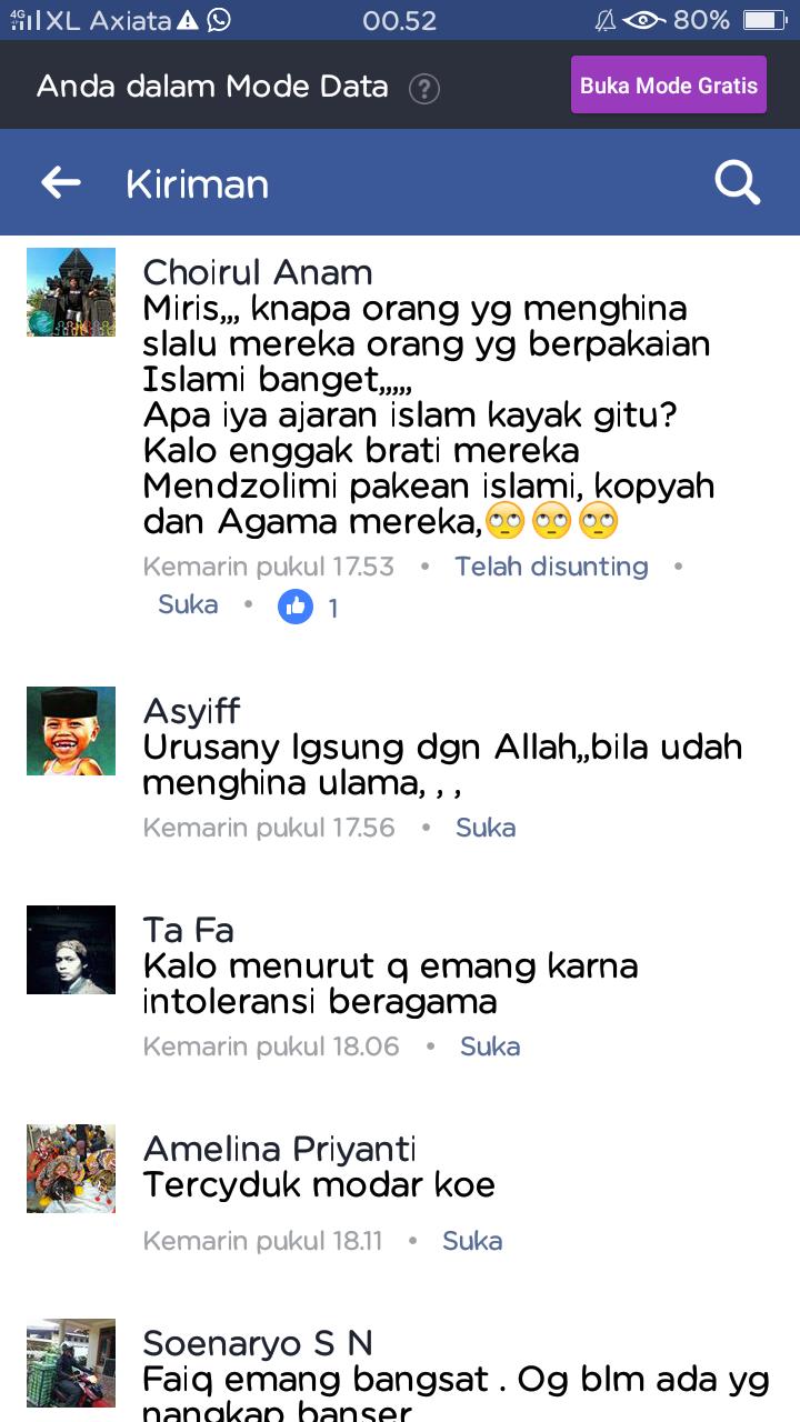 Astaghfirullah Anggota Gerakan Sedekah Tegal Hina Gus Mus