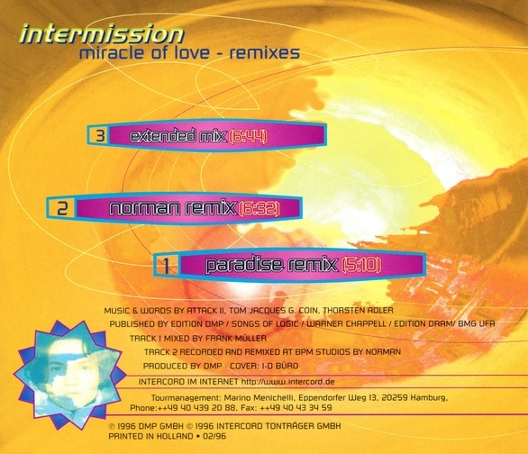 Euro Singles 90 : Intermission – Miracle Of Love - Remixes