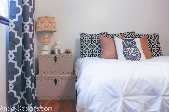 DIY Budget Grey and Yellow Master Bedroom.