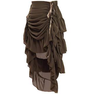 Women's victorian steampunk overskirt