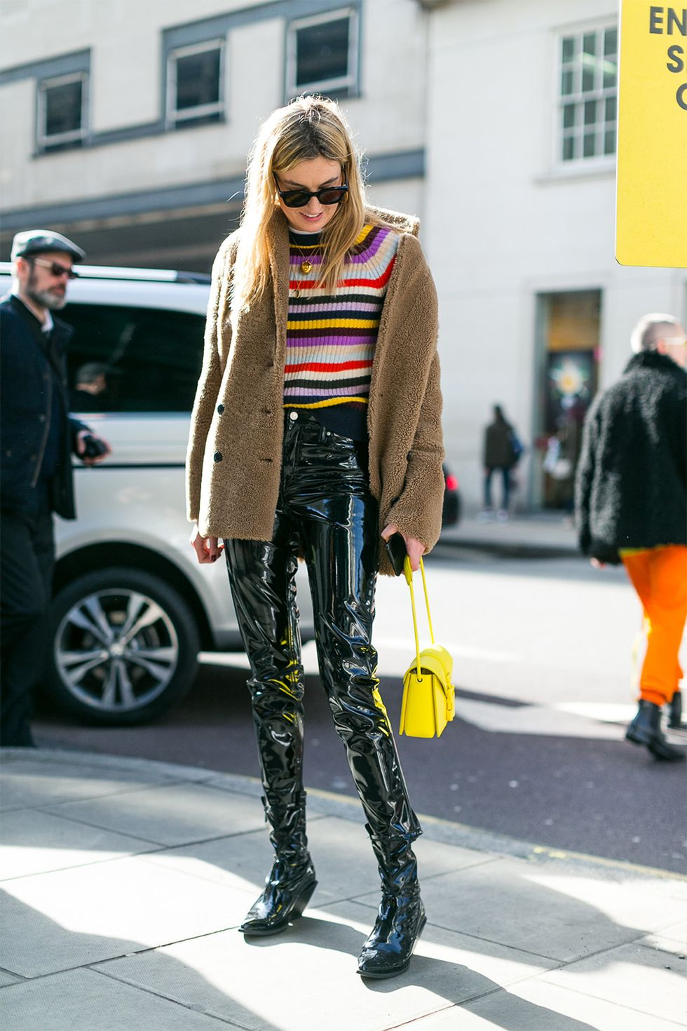 How to Pull off a Bright Striped Sweater like a Street Style Star — Camille Charrière Street Style
