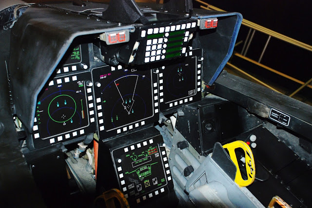 Cockpit Interior Layout of F-22 Raptor