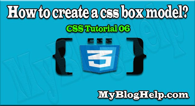 create a css box model