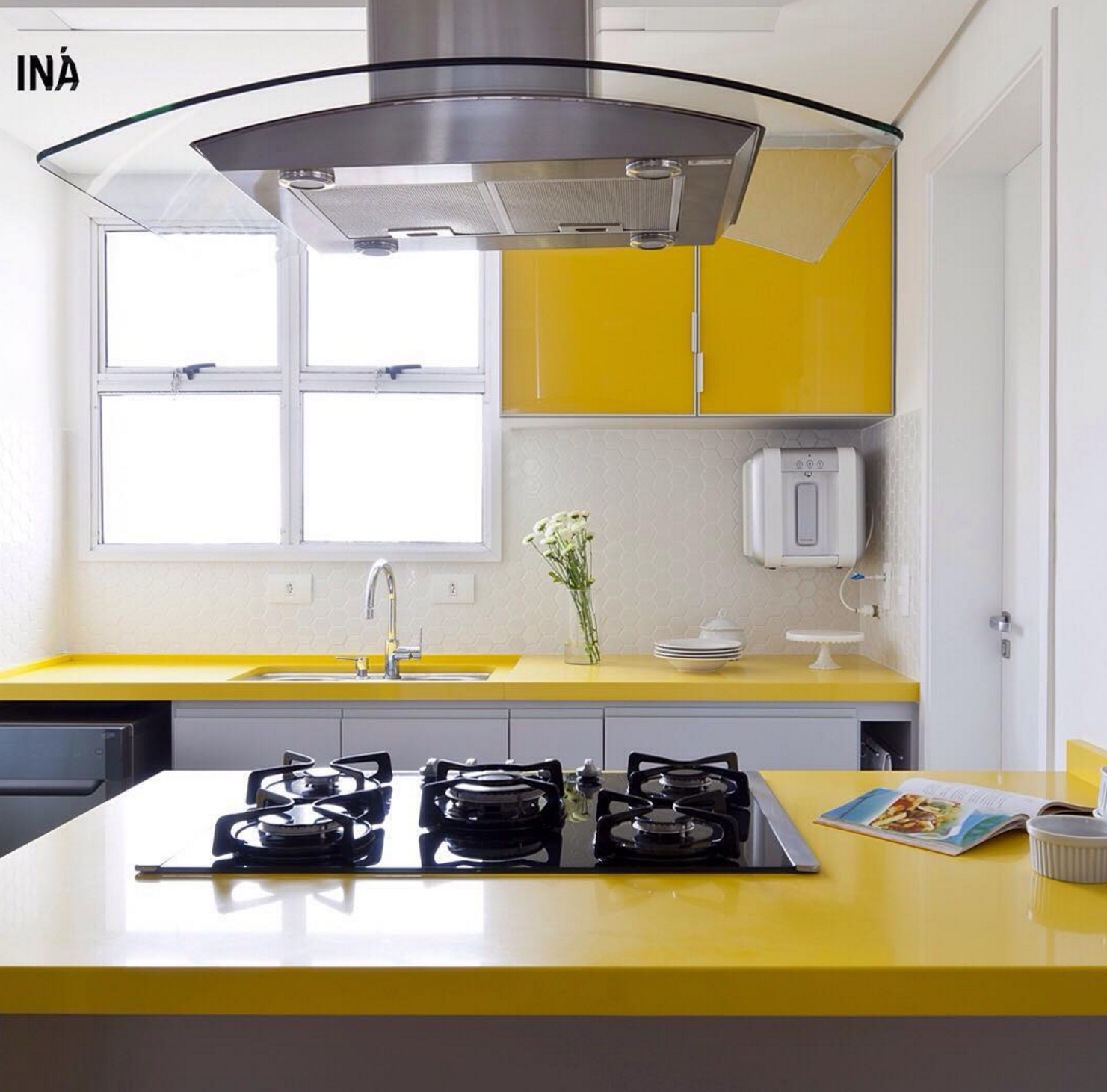 101 planos de casas: Una cocina moderna en amarillo
