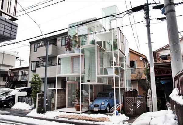 casa toda de vidro