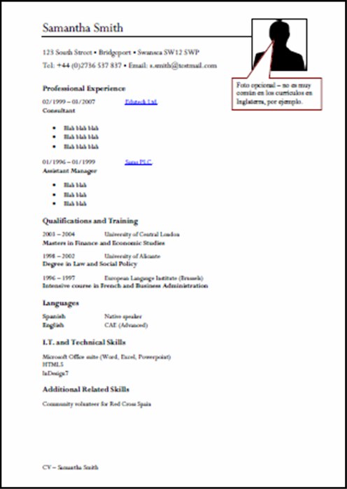 ejemplos de curriculum vitae resumen ejemplos de un perfil personal para un currculum ehow modelos de