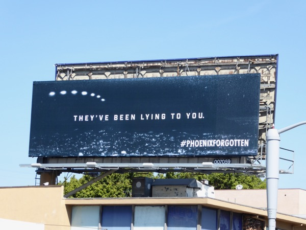 Phoenix Forgotten lying to you billboard
