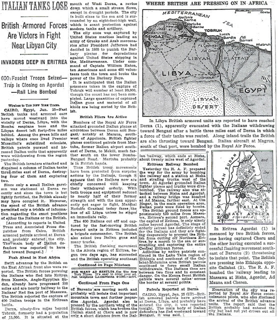 26 January 1941 worldwartwo.filminspector.com NY Times Libya map