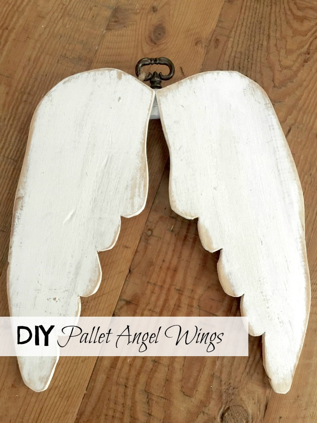 How to Make a DIY Set of Pallet Angel Wings www.homeroad.net