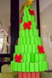 http://manualidadesparaninos.biz/arbol-de-navidad-con-rollos-de-papel/