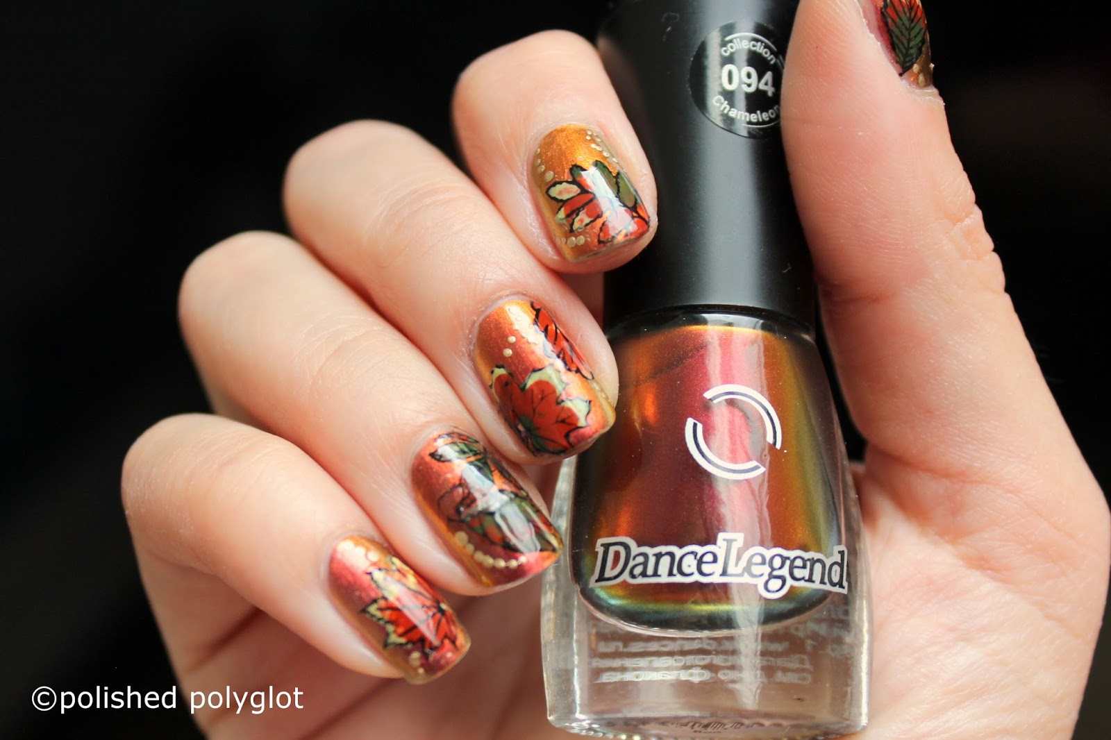Nail art │ Autumn Leaves nail design [Nail crazies Unite ...