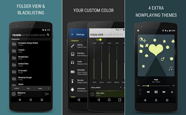 Tampilan Aplikasi BlackPlayer EX Music Player Untuk Android