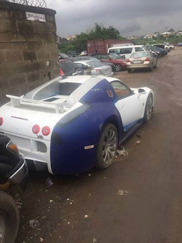photos another bugatti veyron car spotted in lagos. Black Bedroom Furniture Sets. Home Design Ideas