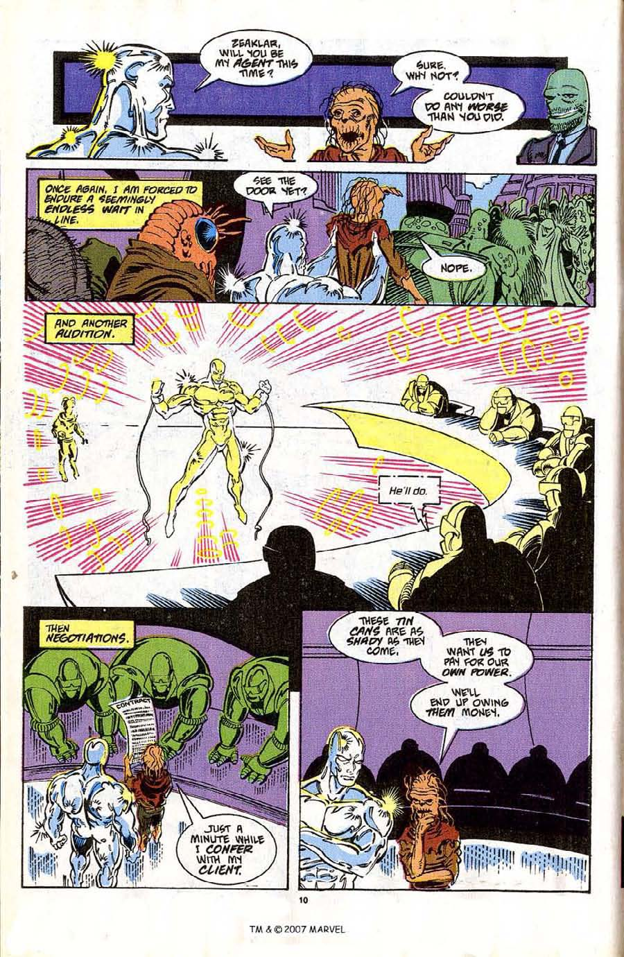 Read online Silver Surfer (1987) comic -  Issue #42 - 12