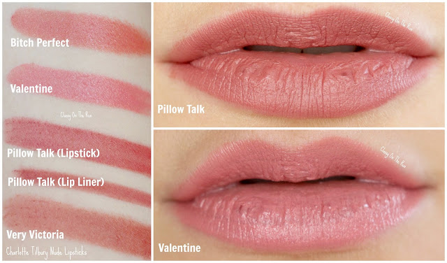 charlotte tilbury pillow talk valentine lipstick swatch and review