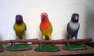 patung love bird souvenir