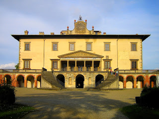 The beautiful Villa Medici at Poggio a Caiano