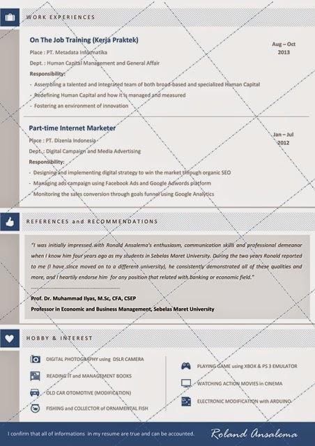 CV Lamaran Kerja Bank Mandiri