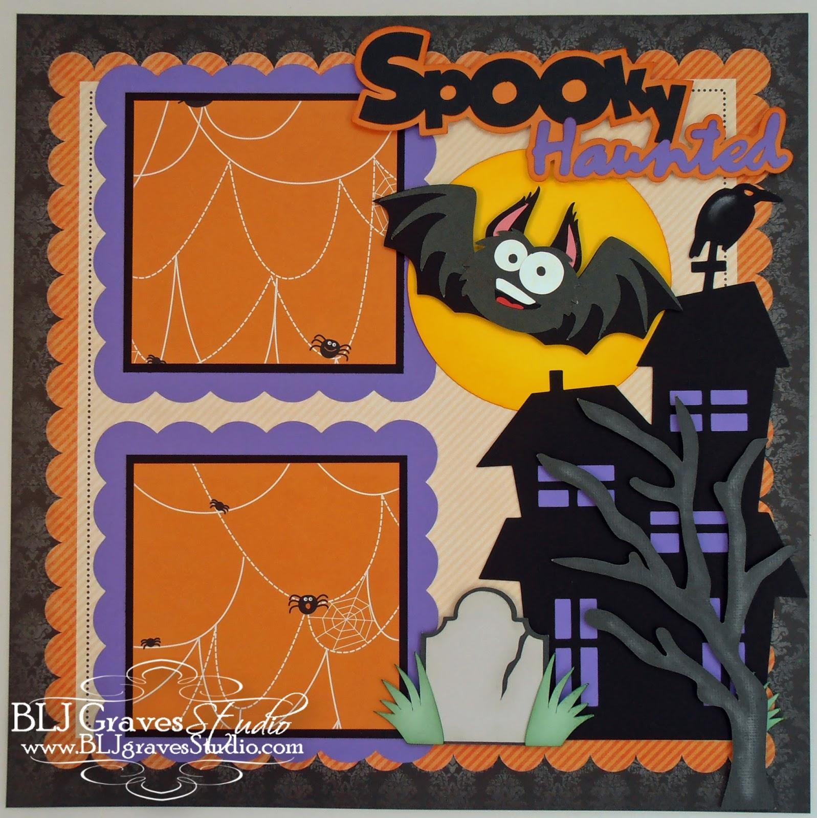 halloween scrapbook layouts