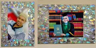 Kreasi Unik Membuat Bingkai Foto Dari Kardus dan VCD Bekas