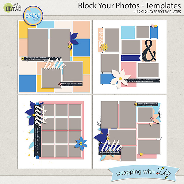 4 blocker template - scrapping with liz april byoc block your photos tags