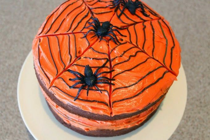Trick-Or-Treat Oozy Chocolate Cake | Happy Halloween | Cate Renée