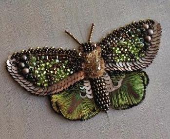 haftowany motyl DIY