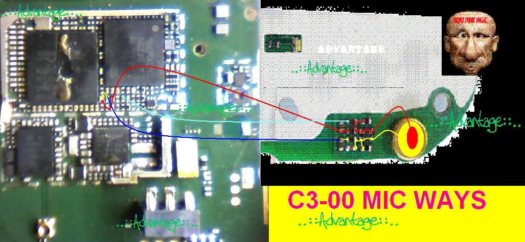 Nokia C3-00 Mic Jumper Full Ways - GSMHosters